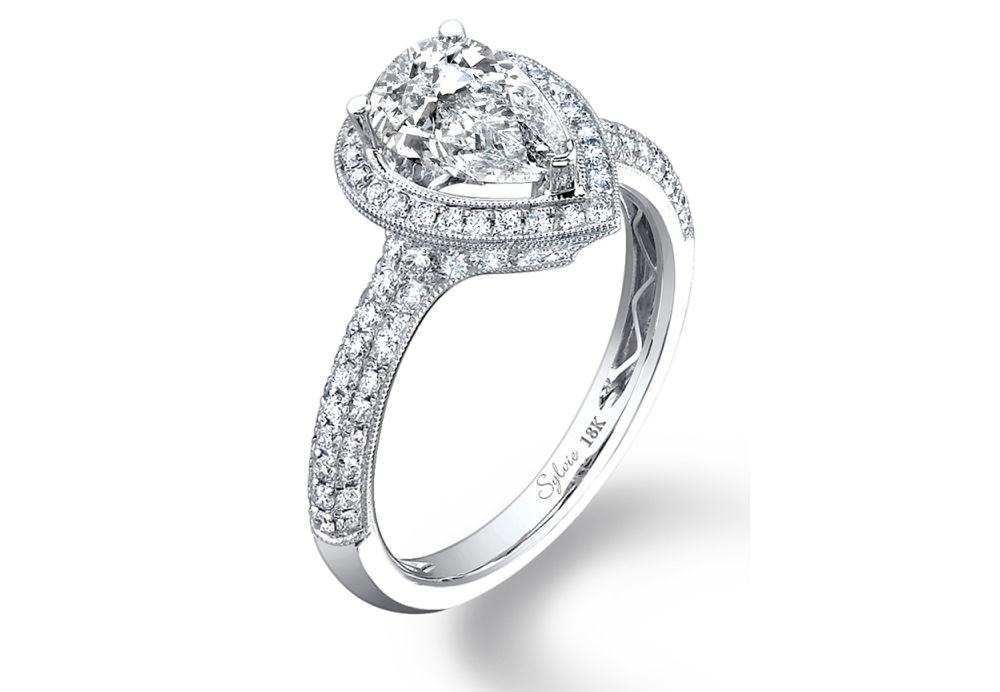 Sylvie Pear Cut Engagement Ring