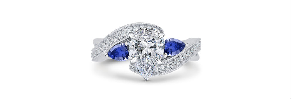 Shah Luxury Pear Cut Engagement Ring