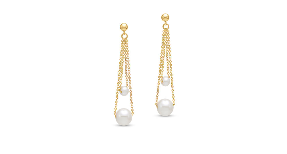 Mastoloni Gold and Pearl Earrings