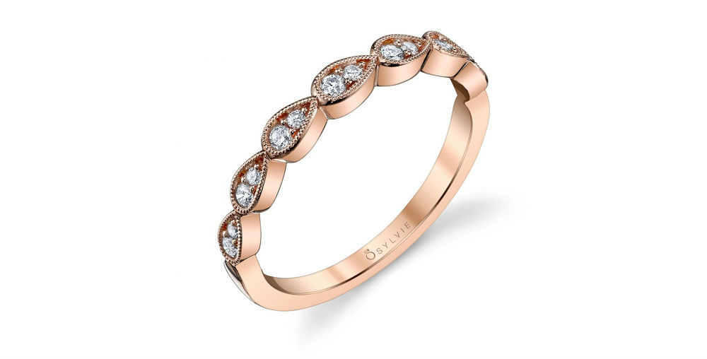 Sylvie Rose Gold Wedding Band