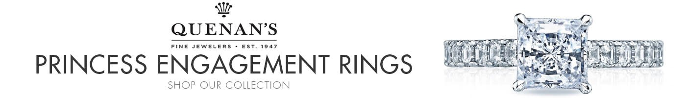 Princess Cut Engagement Rings at Quenan's Fine Jewelers