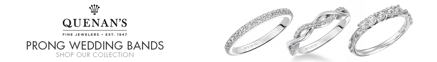 Prong Wedding Bands at Quenan's Jewelers